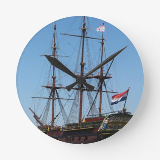 Amsterdam wooden sail ship VOC - Range Clock