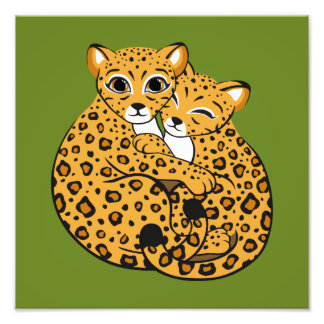 Amur Leopard Cubs Cuddling Art Art Photo