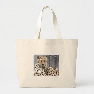 Amur Leopard Large Tote Bag