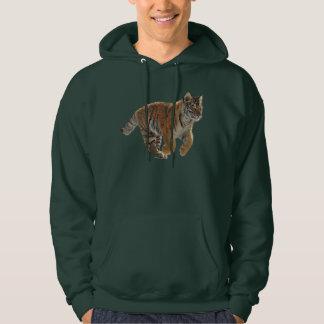 Amur Tiger Cub Fantasy Art Men's Wildlife Hoodie