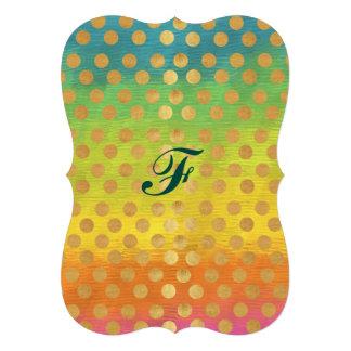 amusement à la mode chic élégant multi de point de carton d'invitation  12,7 cm x 17,78 cm