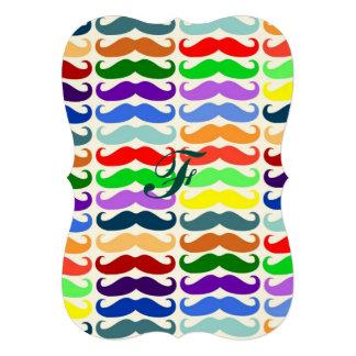 Amusement à la mode de couleur de hippie de motif carton d'invitation  12,7 cm x 17,78 cm