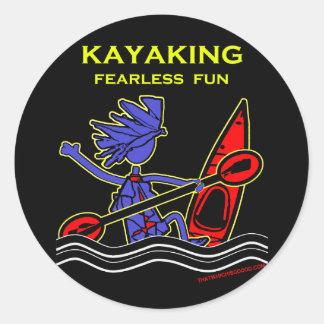 Amusement courageux Kayaking Adhésif Rond