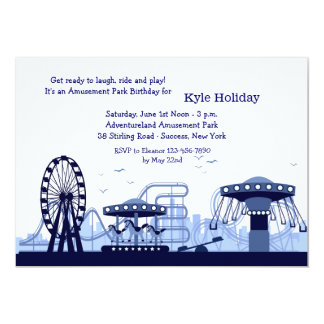Amusement Park (Blue) Invitation