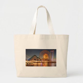 Amusement Park Lights Large Tote Bag