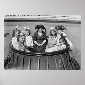 Amusement Park Ride, 1921 Poster
