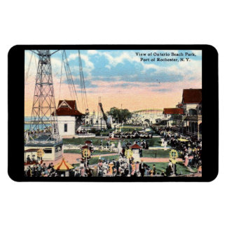 Amusement Park, Rochester, New York Vintage Rectangular Photo Magnet