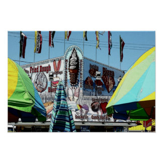 Amusement Park Snack Stand Old Orchard Beach Maine Poster