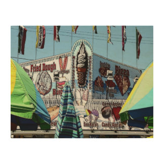 Amusement Park Snack Stand Old Orchard Beach Maine Wood Print