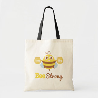 Amusing and Cute Bee Strong Cartoon