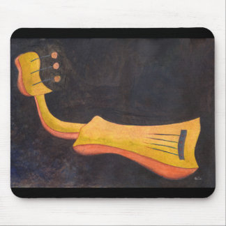 Amusing surrealist mandolin mouse pad