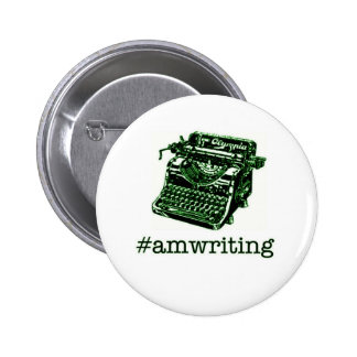 #amwriting 2 inch round button