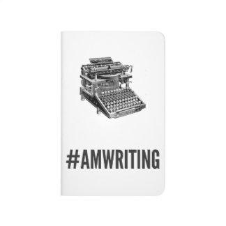 #AMWRITING Typewriter   White Pocket Journal