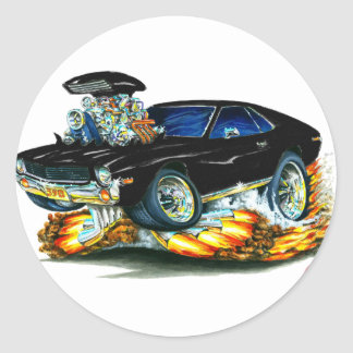 AMX Black Car Classic Round Sticker