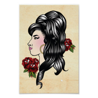 Amy Gypsy Traditional Tattoo Print