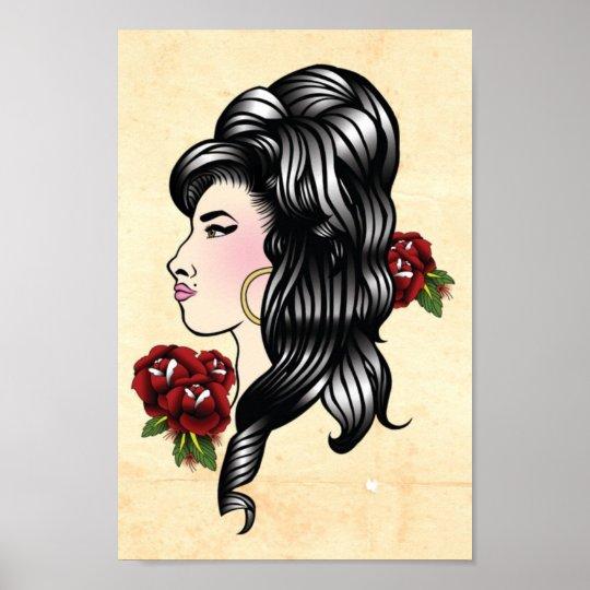 Amy Gypsy Traditional Tattoo Print