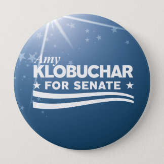 Amy Klobuchar for Senate 4 Inch Round Button