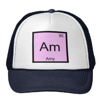 Amy Name Chemistry Element Periodic Table Trucker Hat