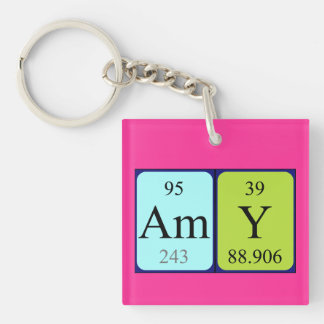 Amy periodic table name keyring Single-Sided square acrylic keychain