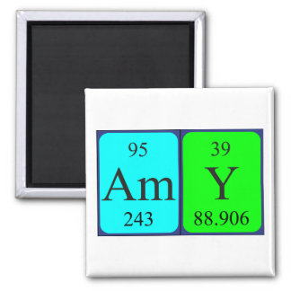 Amy periodic table name magnet