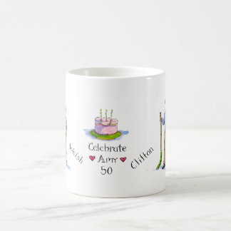 amy, sons, barney, amy's cake coffee mug