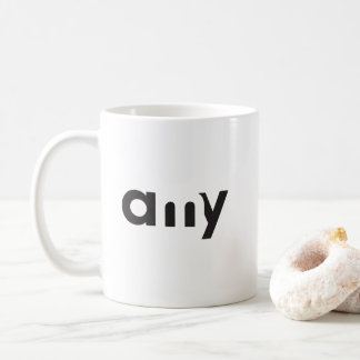 Amy's My Mug typographic design
