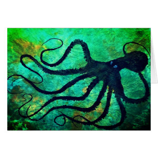 "Amy's Octopus - 7"" x 5"" Art Card"