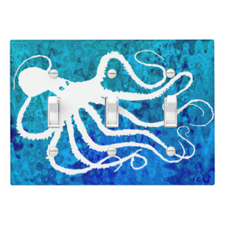 Amy's Octopus On Blue Green - Light Switch Cover