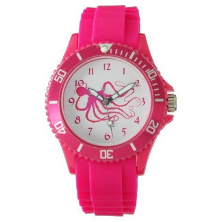 Amy's Octopus - Sporty Pink Silicon Watch