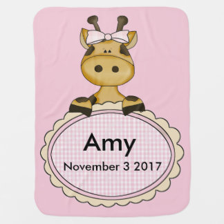 Amy's Personalized Giraffe Baby Blanket