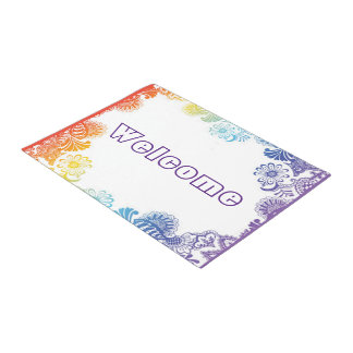 An Abstract Floral Frame Doormat