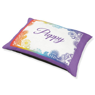 An Abstract Floral Frame Pet Bed