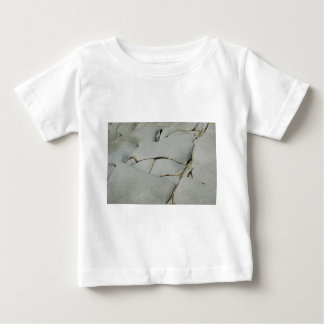 An abstract pattern of white and grey. baby T-Shirt