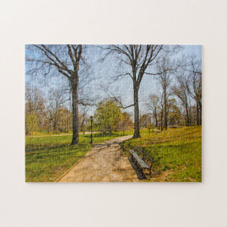An Abstract Photograph of Central Park New York. Jigsaw Puzzle