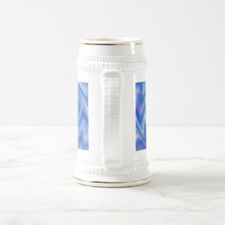 An Abstract Swirl of Color in Blue and Purple 18 Oz Beer Stein