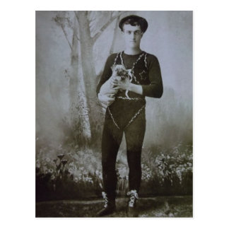 An Acrobat and His Dog Postcard
