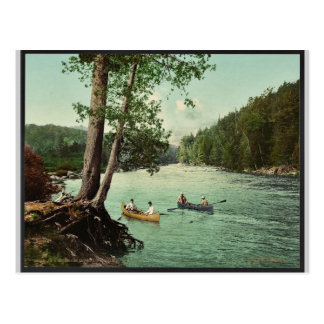 An Adirondack mountain stream classic Photochrom Postcard