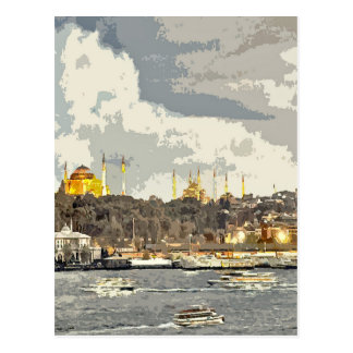 An afternoon in Istanbul Postcard