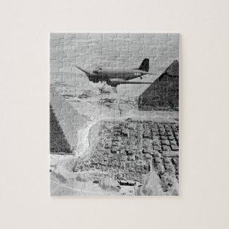 An Air Transport Command plane flies_War Image Puzzles