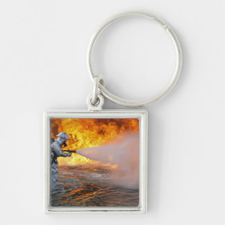 An aircraft rescue firefighting team keychain