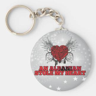 An Albanian Stole my Heart Keychain