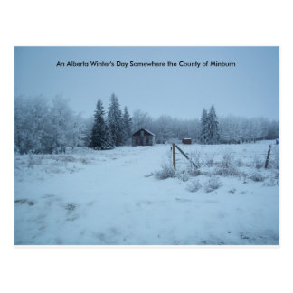 An Alberta Winter's Day Postcard