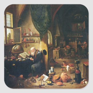 An Alchemist in his Workshop Square Sticker