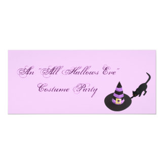 "An ""All Hallows Eve"" Costume Party Card"