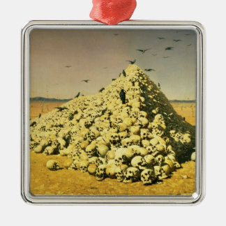 An Allegory of the 1871 War, 1871 Silver-Colored Square Ornament