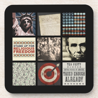 An American Collage Beverage Coaster