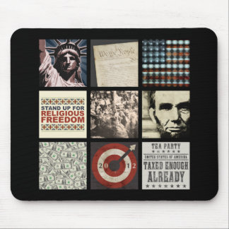 An American Collage Mouse Pad