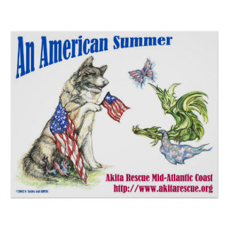 An American Summer (Landscape) Poster