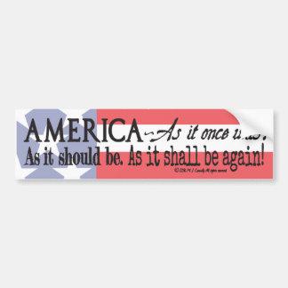 """An American Toast"" bumper sticker"