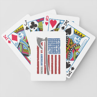 An American Viking - Valhalla Pride Bicycle Playing Cards